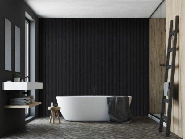 akusticke panely cerne v koupelne